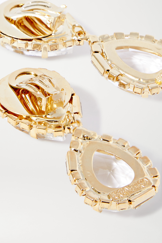 Rosantica Cuori gold-tone and crystal clip earrings