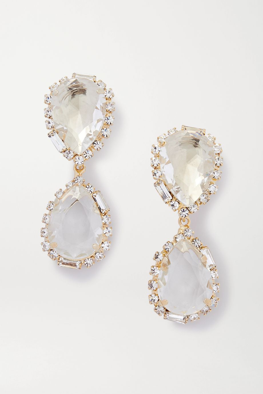 Rosantica Cuori gold-tone and crystal clip earrings