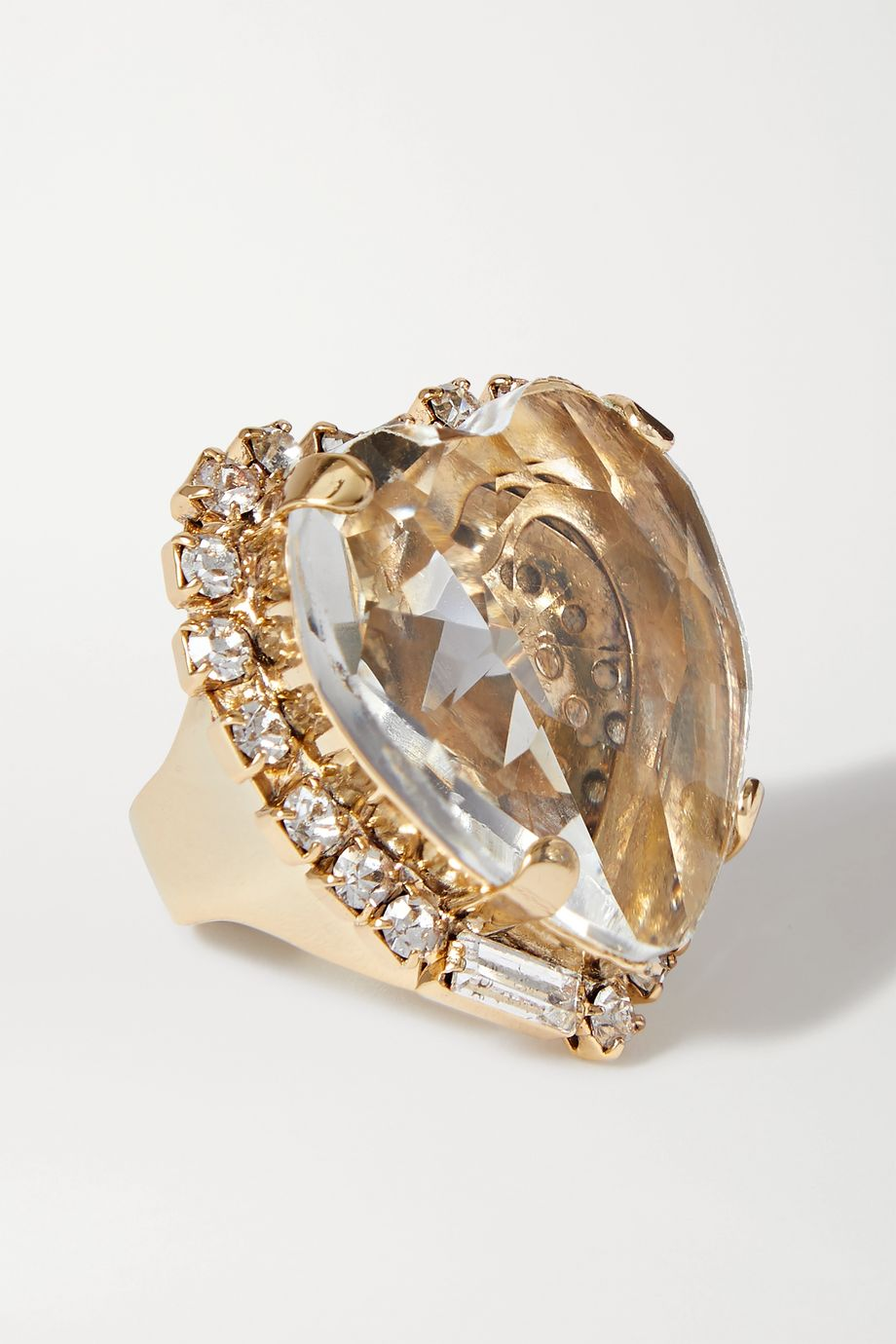 Rosantica Cuori gold-tone crystal ring