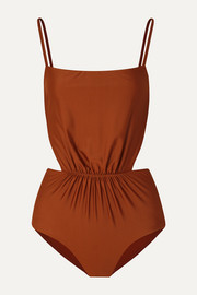 The Gathered cutout swimsuit