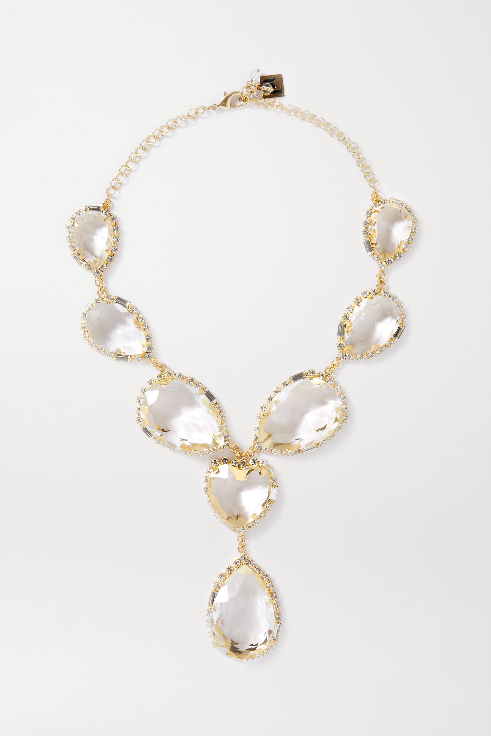Rosantica Cuori gold-tone and crystal necklace