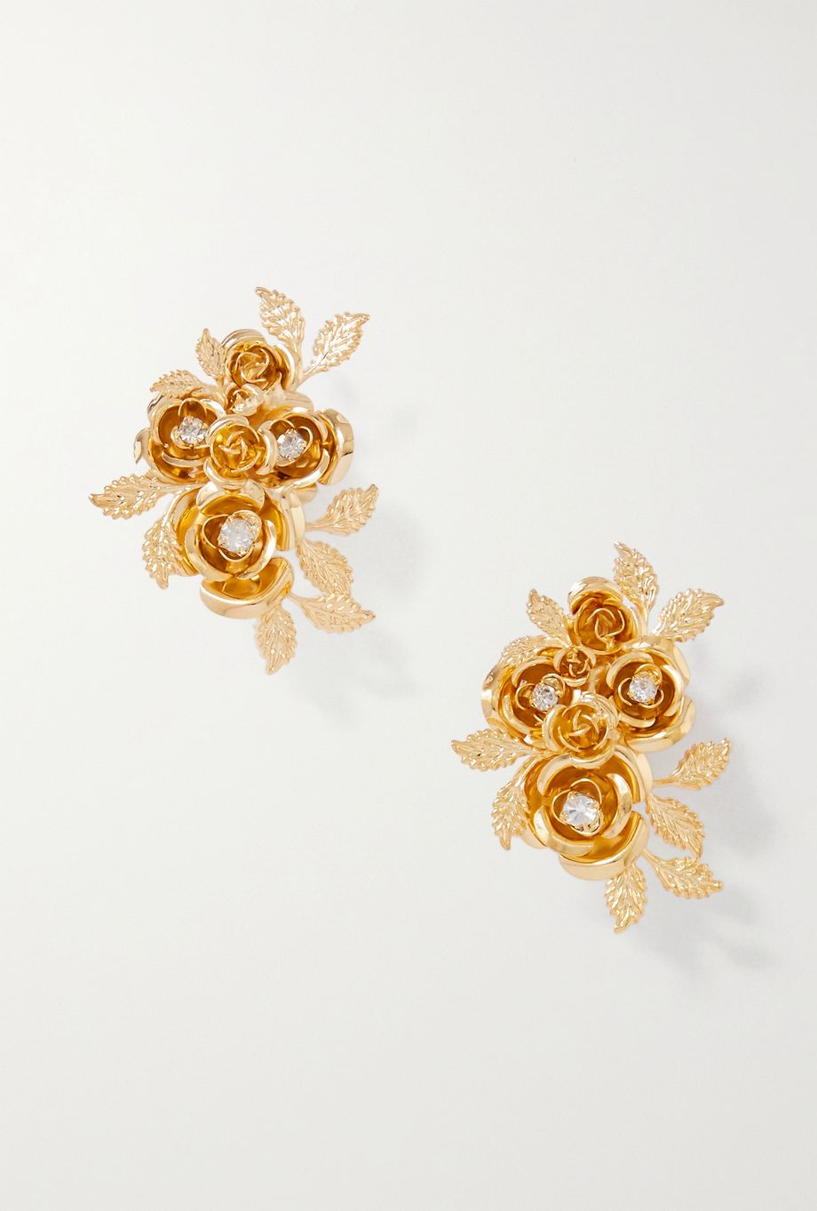 Rosantica Lirica gold-tone crystal clip earrings