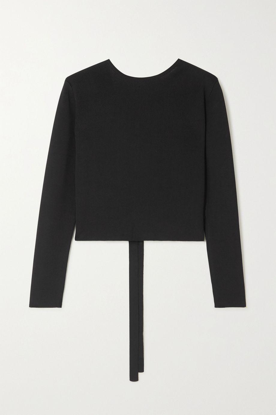 Matteau Tie-back stretch-knit top