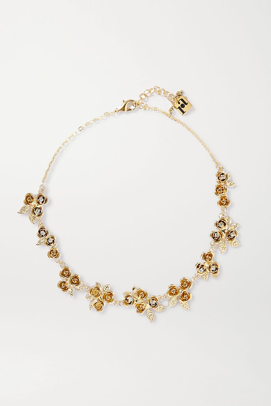 Rosantica Lirica crystal-embellished gold-tone necklace