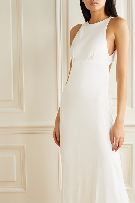 Mary cutout washed-satin gown