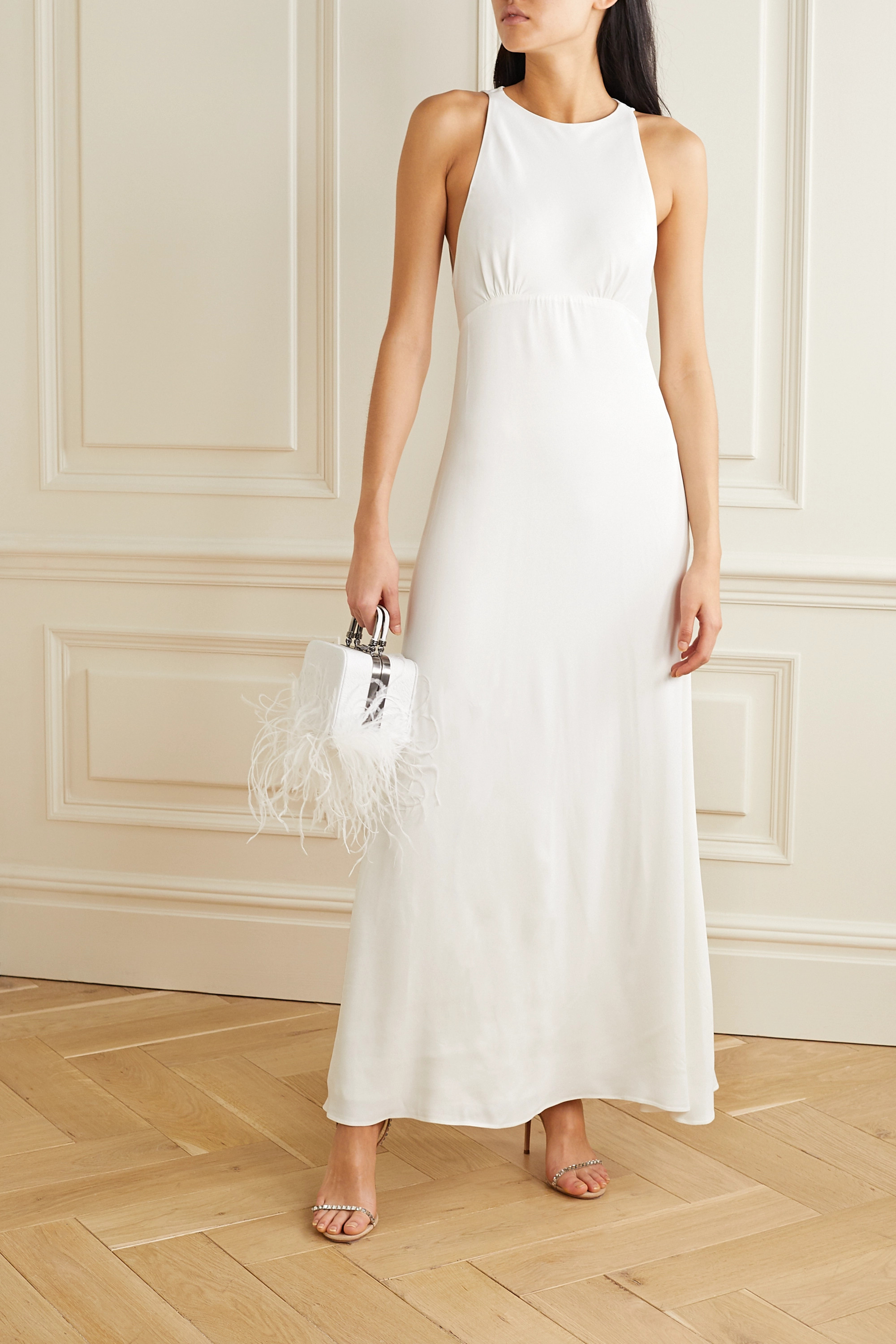 Vanessa Cocchiaro Mary cutout washed-satin gown