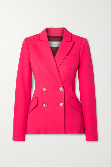 10 Crosby by Derek Lam - Rodeo Double-breasted Cotton-blend Blazer - Magenta