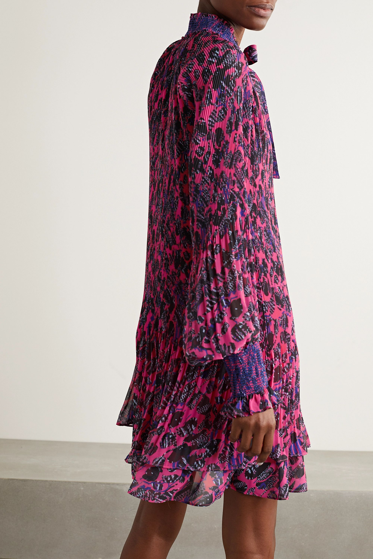 Derek Lam 10 Crosby Eugenia printed plissé-chiffon mini dress
