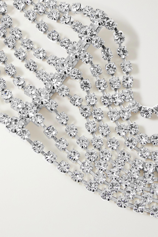 AREA Silver-tone crystal choker
