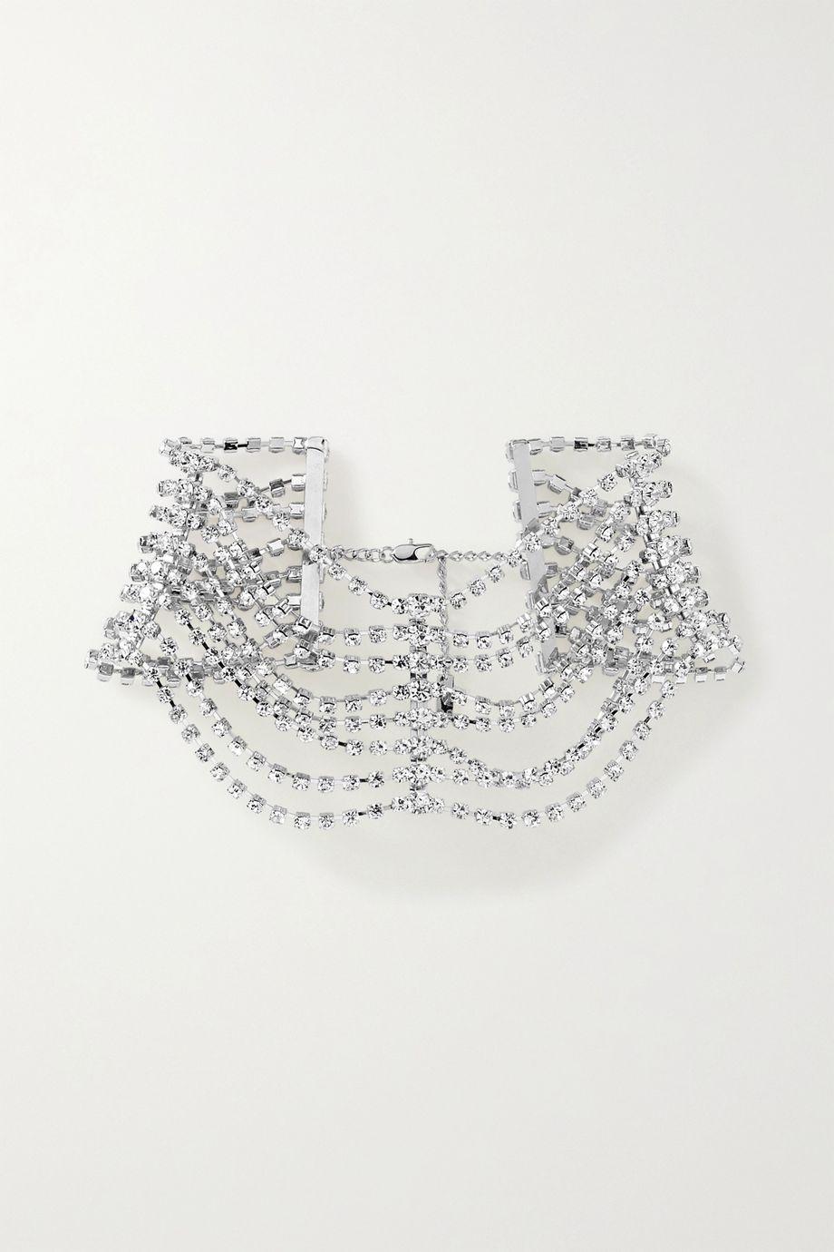 AREA 水晶银色项圈式项链