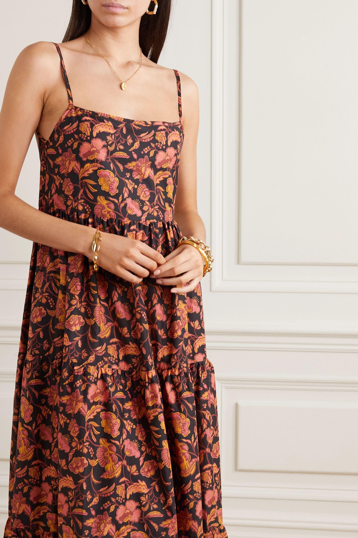 Matteau Open-back tiered floral-print cotton-poplin maxi dress