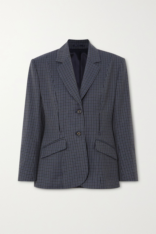Wright Le Chapelain Checked wool blazer