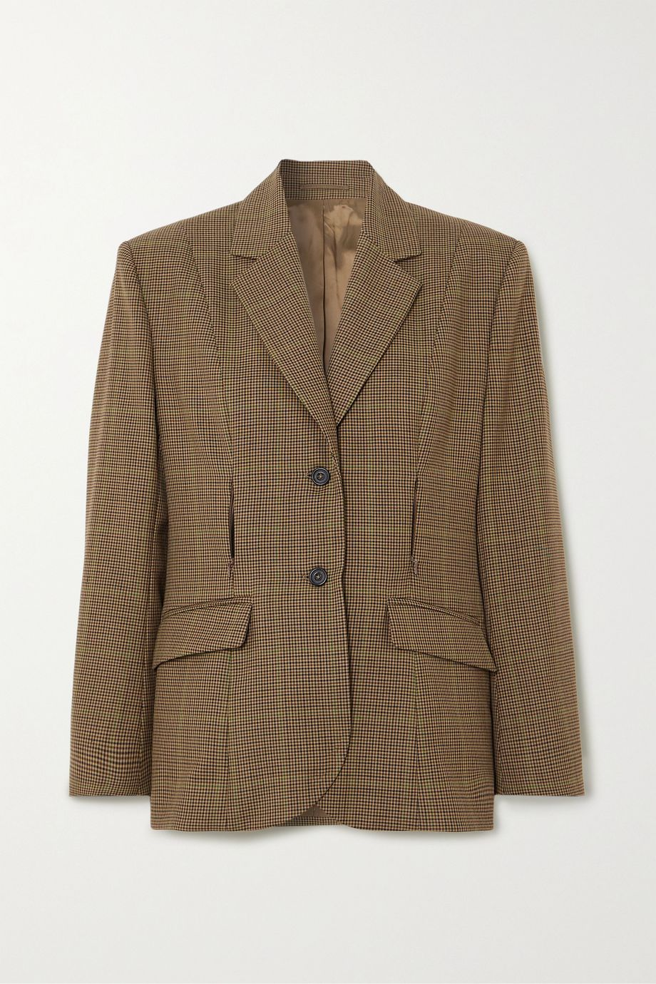 Wright Le Chapelain Zip-detailed checked wool blazer