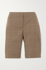 Wright Le Chapelain Checked wool shorts
