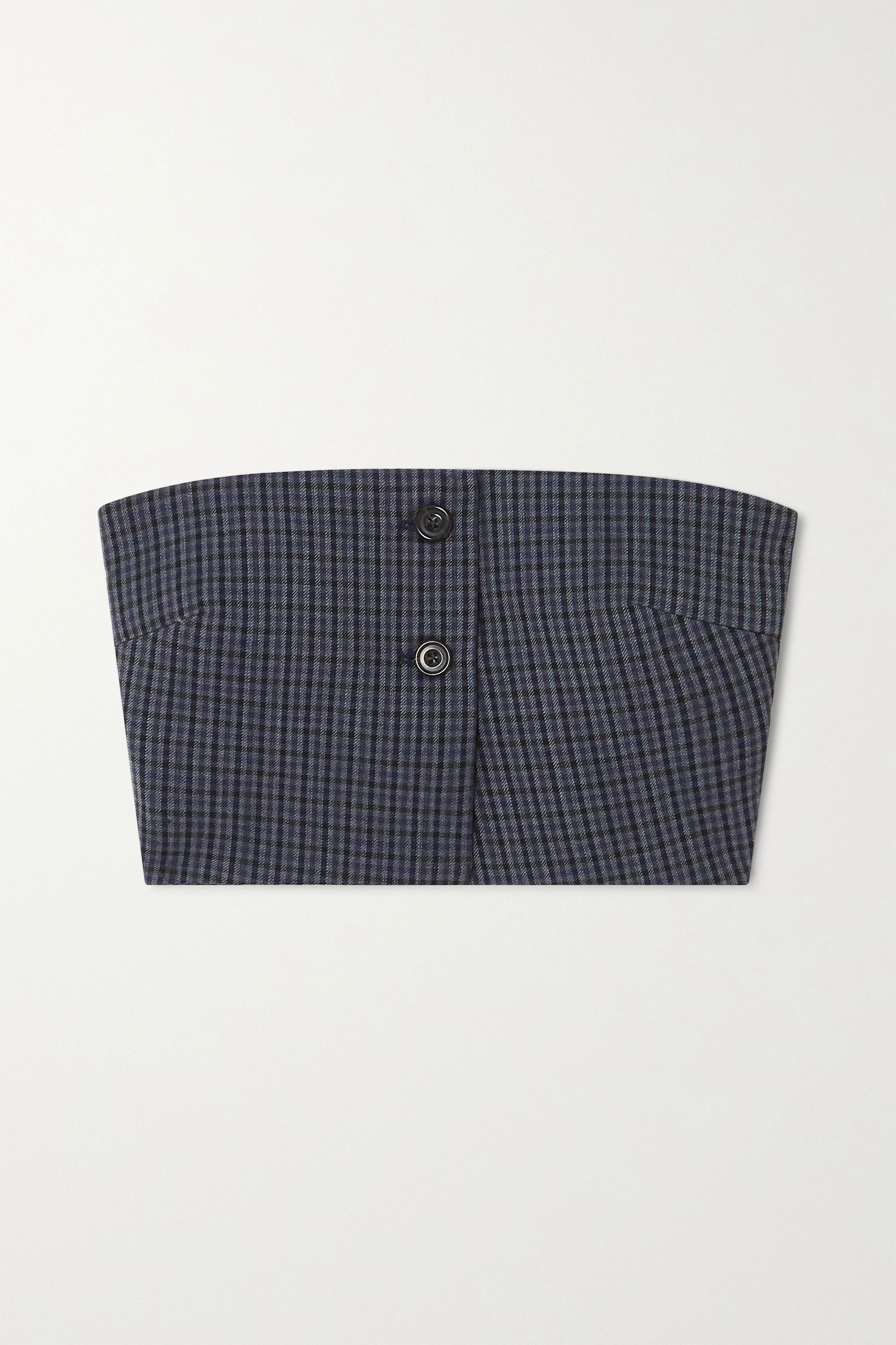 Wright Le Chapelain Checked wool bustier top