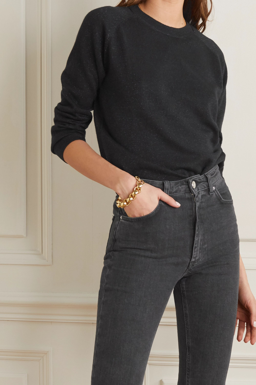 Alexandra Golovanoff Mila metallic cashmere-blend sweater
