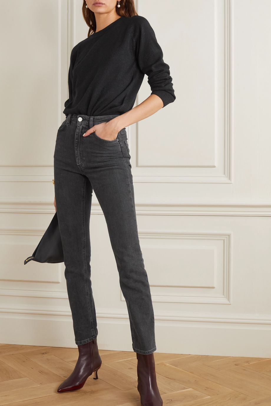Alexandra Golovanoff Mila 金属感羊绒混纺毛衣