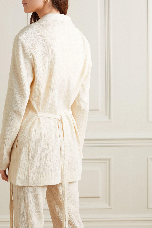 LE 17 SEPTEMBRE Belted cotton-blend crepon blazer