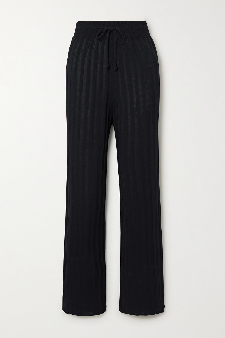LE 17 SEPTEMBRE Ribbed-knit track pants