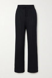 LE 17 SEPTEMBRE Ribbed-knit track pants
