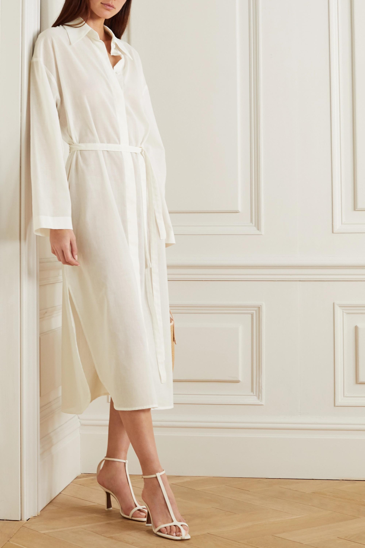 LE 17 SEPTEMBRE Belted linen-blend shirt dress