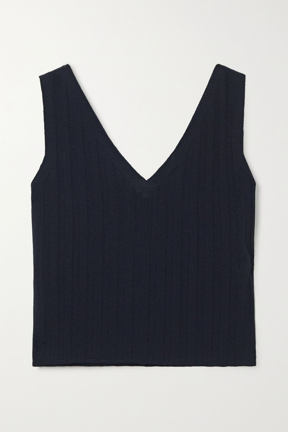 LE 17 SEPTEMBRE Ribbed-knit tank