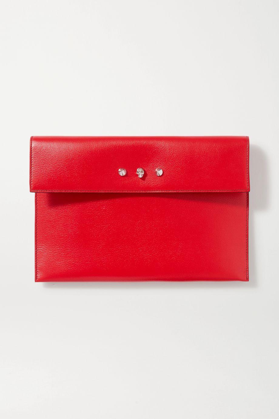 Alexander McQueen Pochette en cuir texturé à ornements