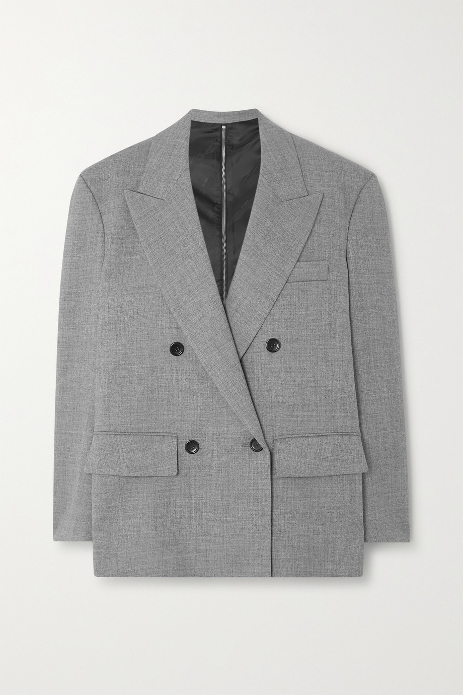 we11done Zip-detailed double-breasted woven blazer