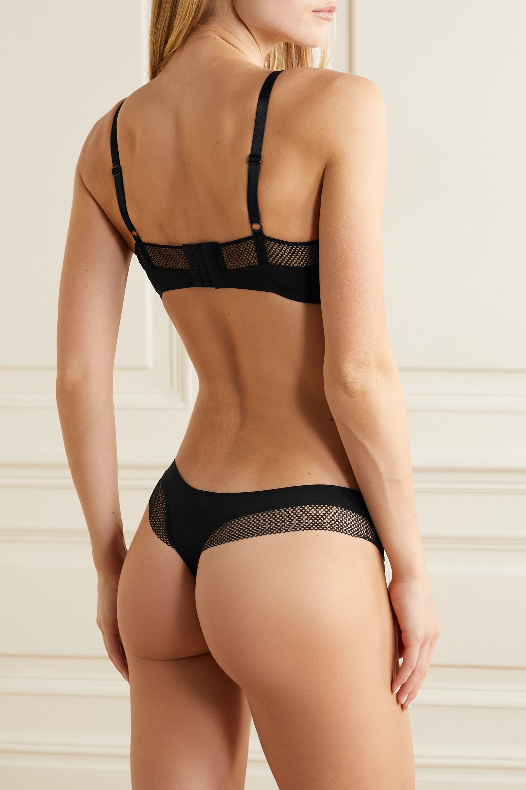 Eres Resille mesh-trimmed stretch-jersey thong