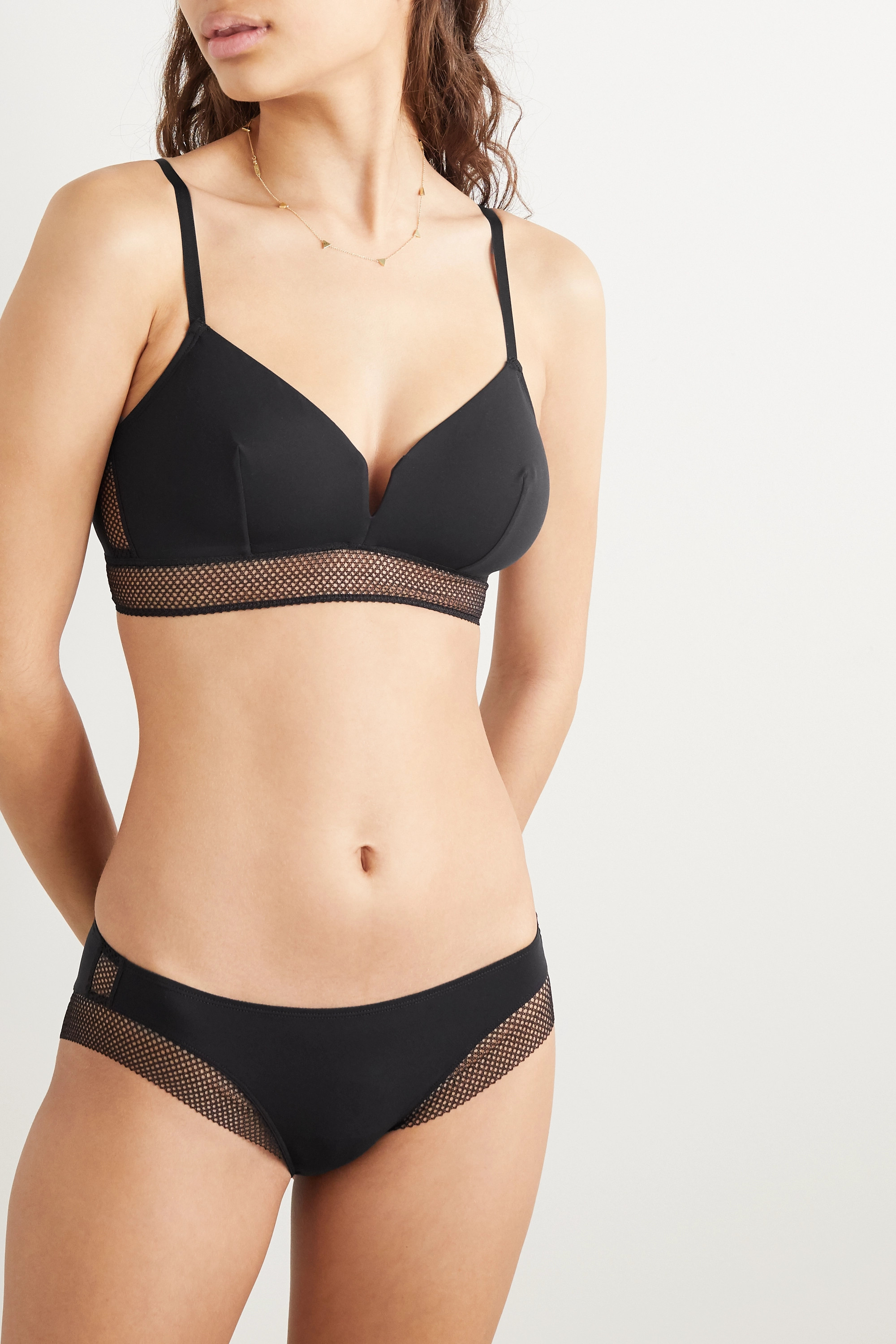 Eres Resille mesh-trimmed stretch-jersey briefs