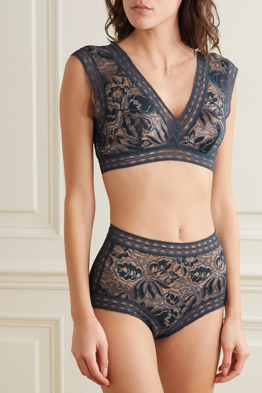 Eres Ganse corded lace briefs