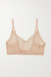 Eres Ajouree stretch-Leavers lace soft-cup bra