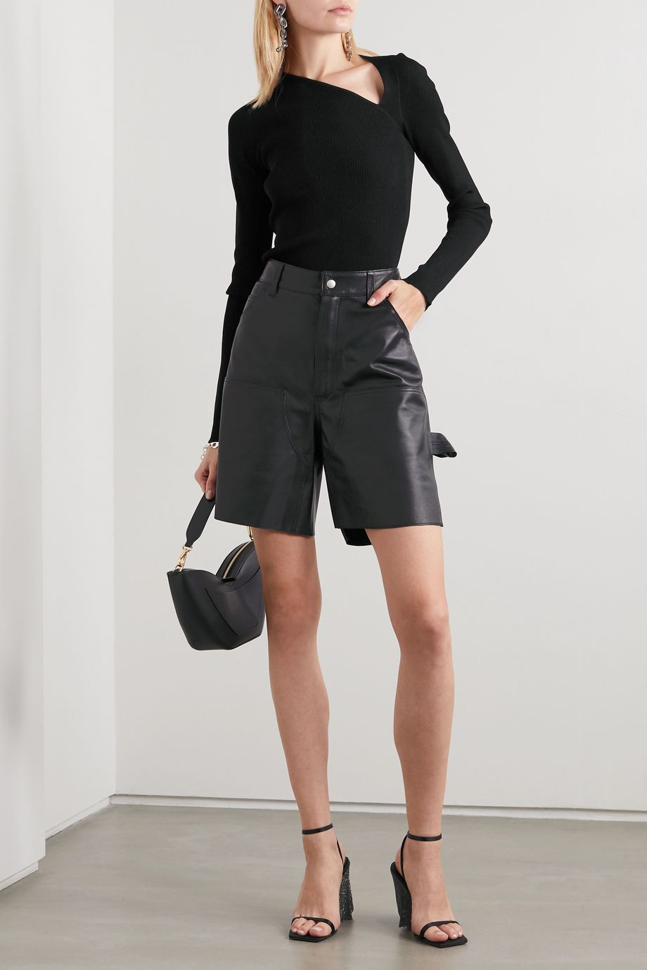 Unravel Project Leather shorts