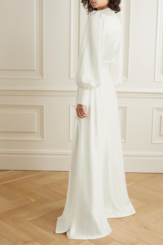 Roksanda Adyn tulle-trimmed silk-crepe gown