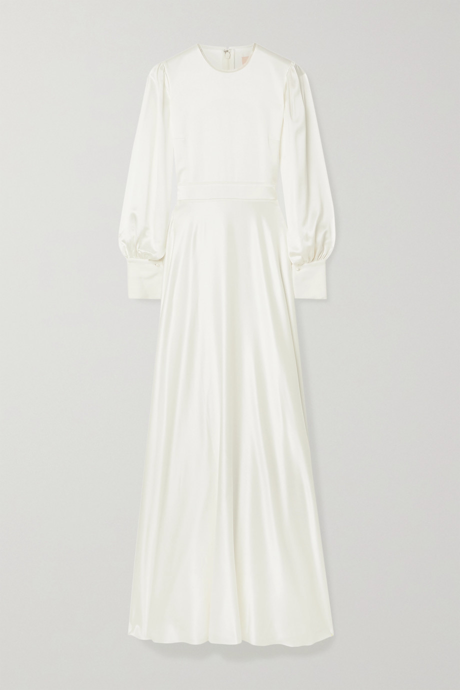 Roksanda Robe de mariée en crêpe de soie à finitions en tulle Adyn