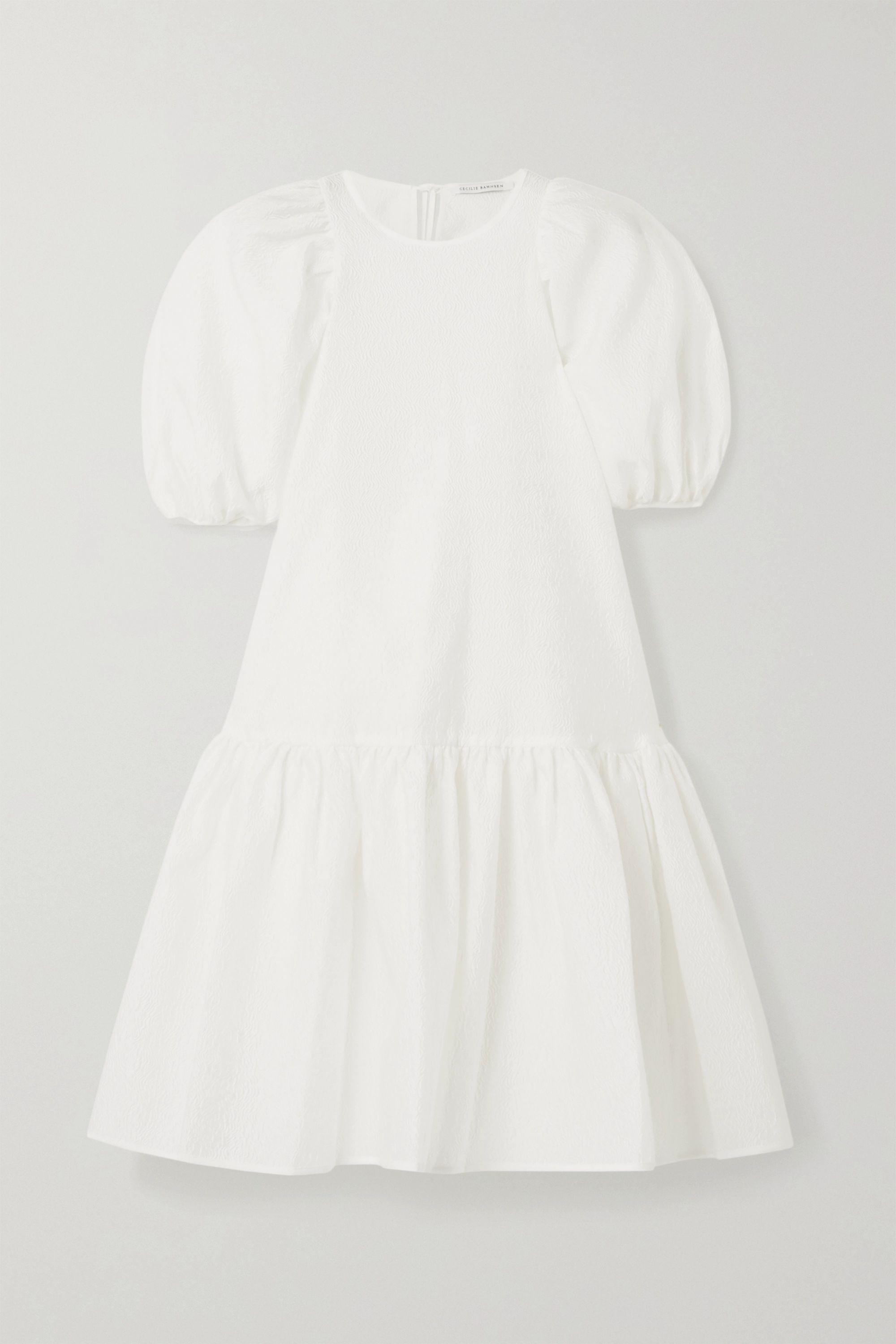 Cecilie Bahnsen Alexa oversized tiered cloqué dress