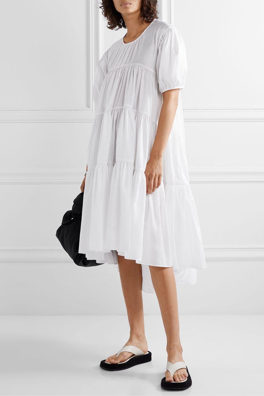 Cecilie Bahnsen Esme tiered sateen dress