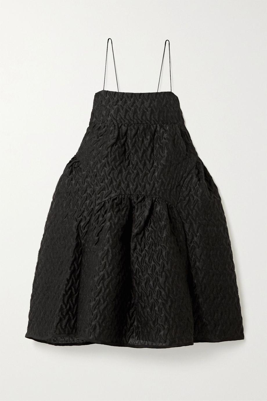 Cecilie Bahnsen Elin oversized gathered linen-blend cloqué mini dress