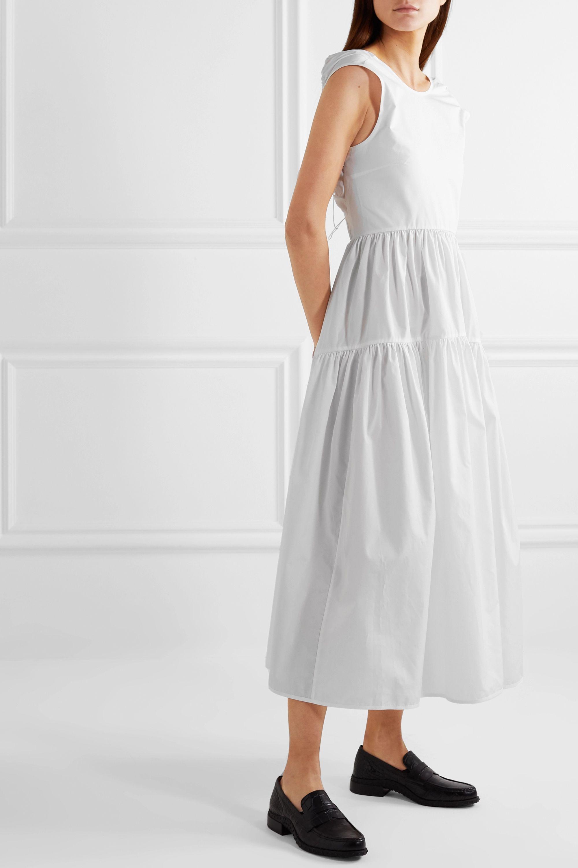 Cecilie Bahnsen Ruth tiered open-back cotton-poplin midi dress