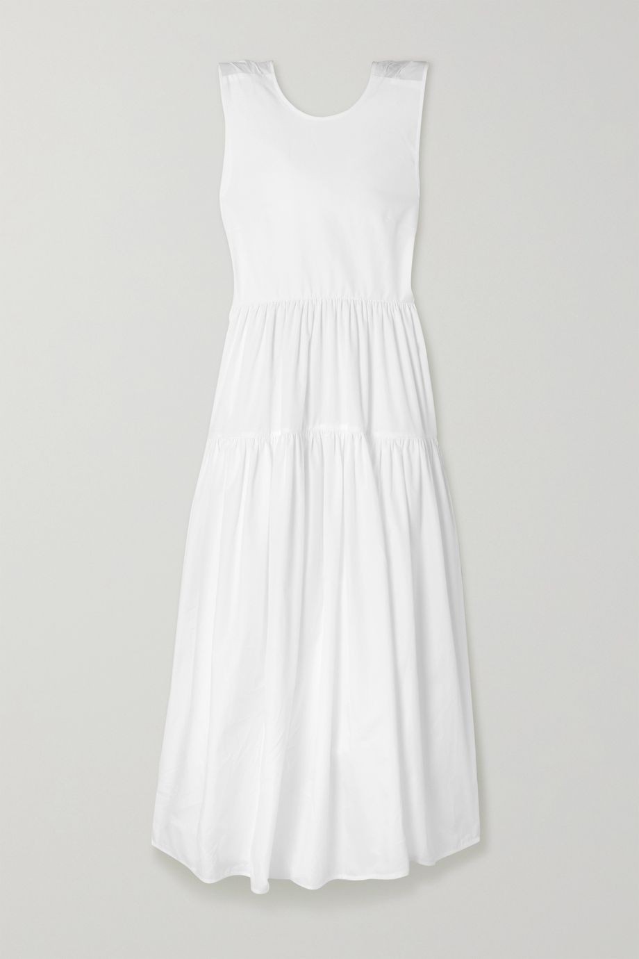 Cecilie Bahnsen Ruth tiered open-back cotton-poplin midi dress