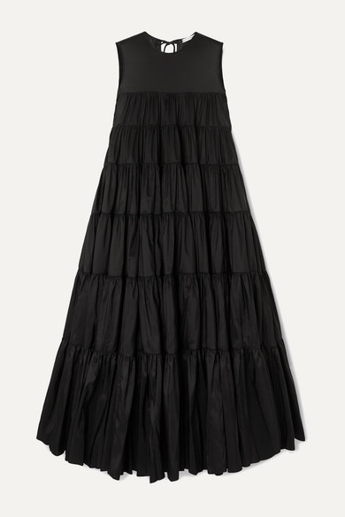 Cecilie Bahnsen Dresses EBBA TIERED FAILLE MIDI DRESS