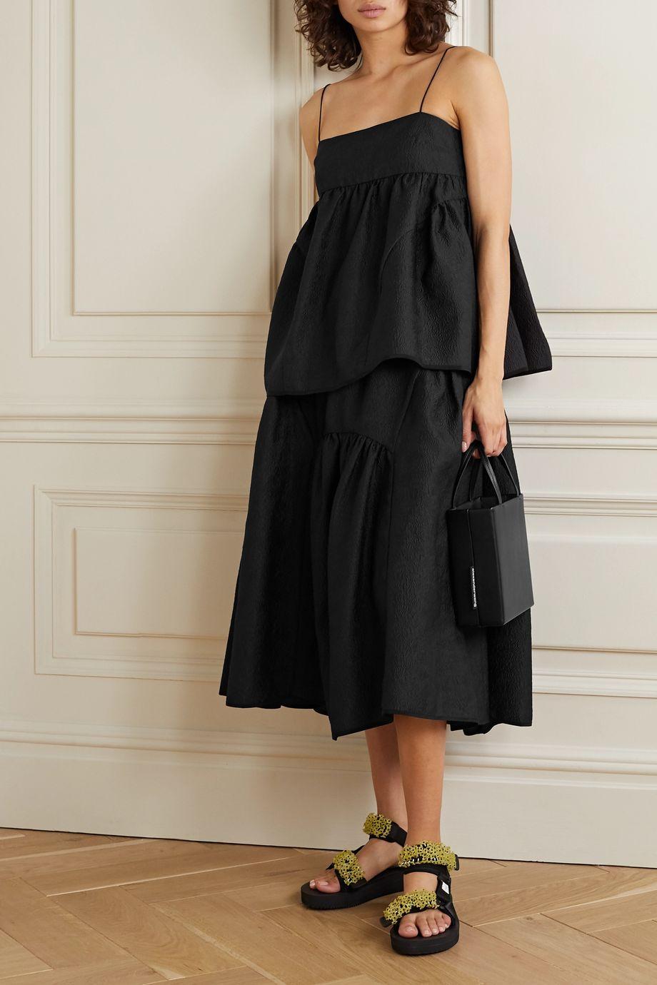 Cecilie Bahnsen Eve gathered cloqué midi skirt