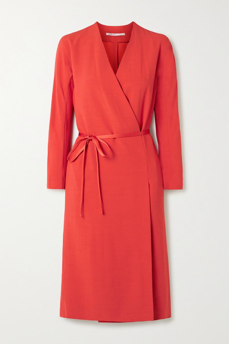 Agnona Crepe wrap dress