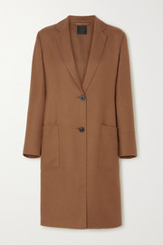 Cashmere and silk-blend twill coat