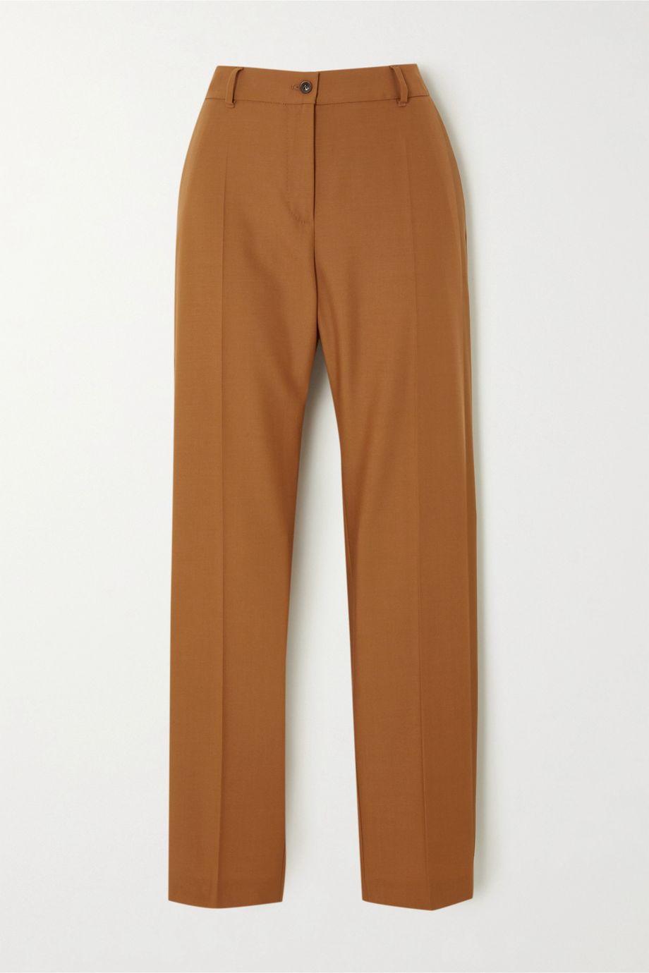 Agnona Eternals 羊毛斜纹布窄腿裤