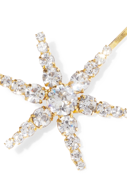Jennifer Behr Aurelia set of three gold-tone crystal hair slides