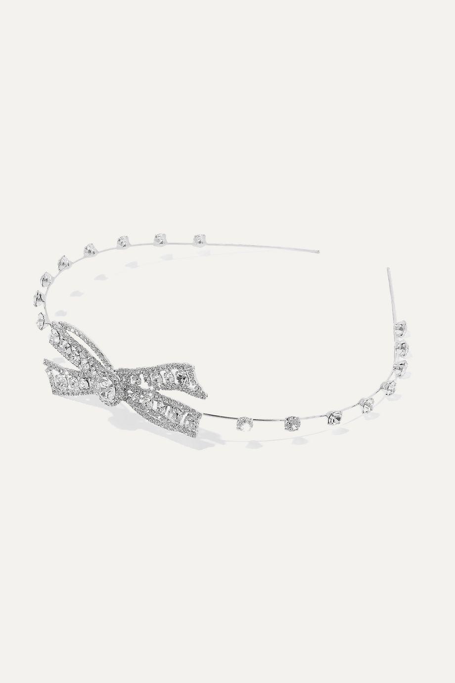 Jennifer Behr Ines silver-tone Swarovski crystal headband