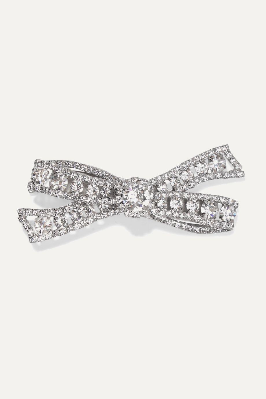 Jennifer Behr Carina silver-tone crystal hair clip