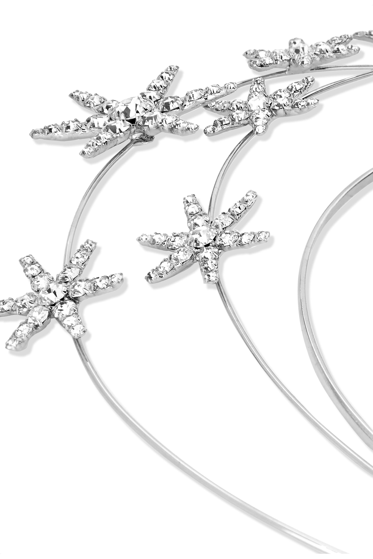 Jennifer Behr Ellerie crystal-embellished silver-tone headband