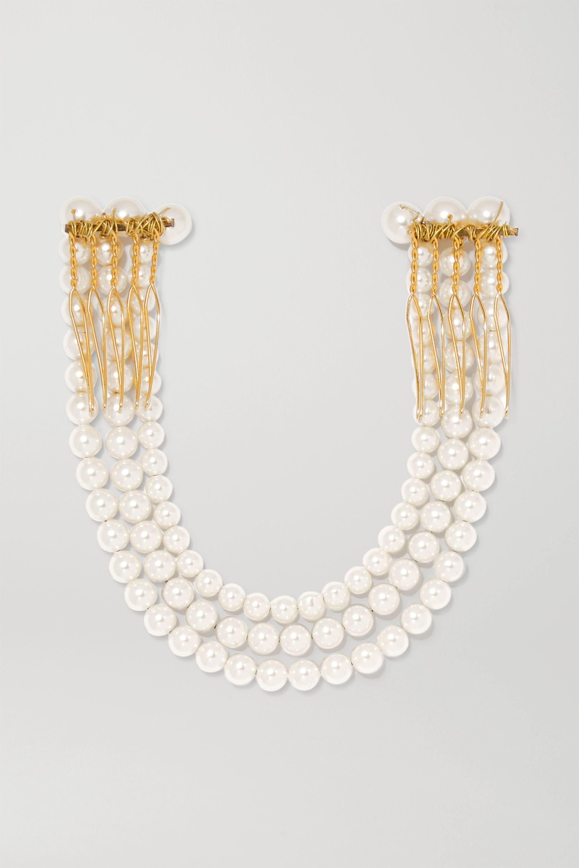 Jennifer Behr Blakely gold-tone faux pearl hair slide